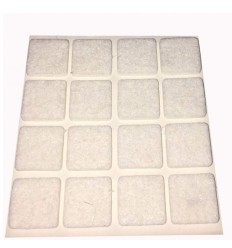 Hvid filtpude, 20 x 20 mm