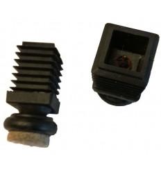 M-filtsko, med drejeled, Ø 17 mm., firkant