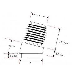 BGF - filtsko til stålrør, med vinkel, Ø 20 mm